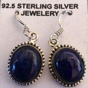 Jewelry - 🔆EARRINGS LAPIS STERLING SILVER VINTAGE UNWORN🔆